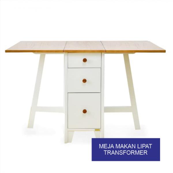 Meja Makan Lipat Transformer Furniture Modern Klasik